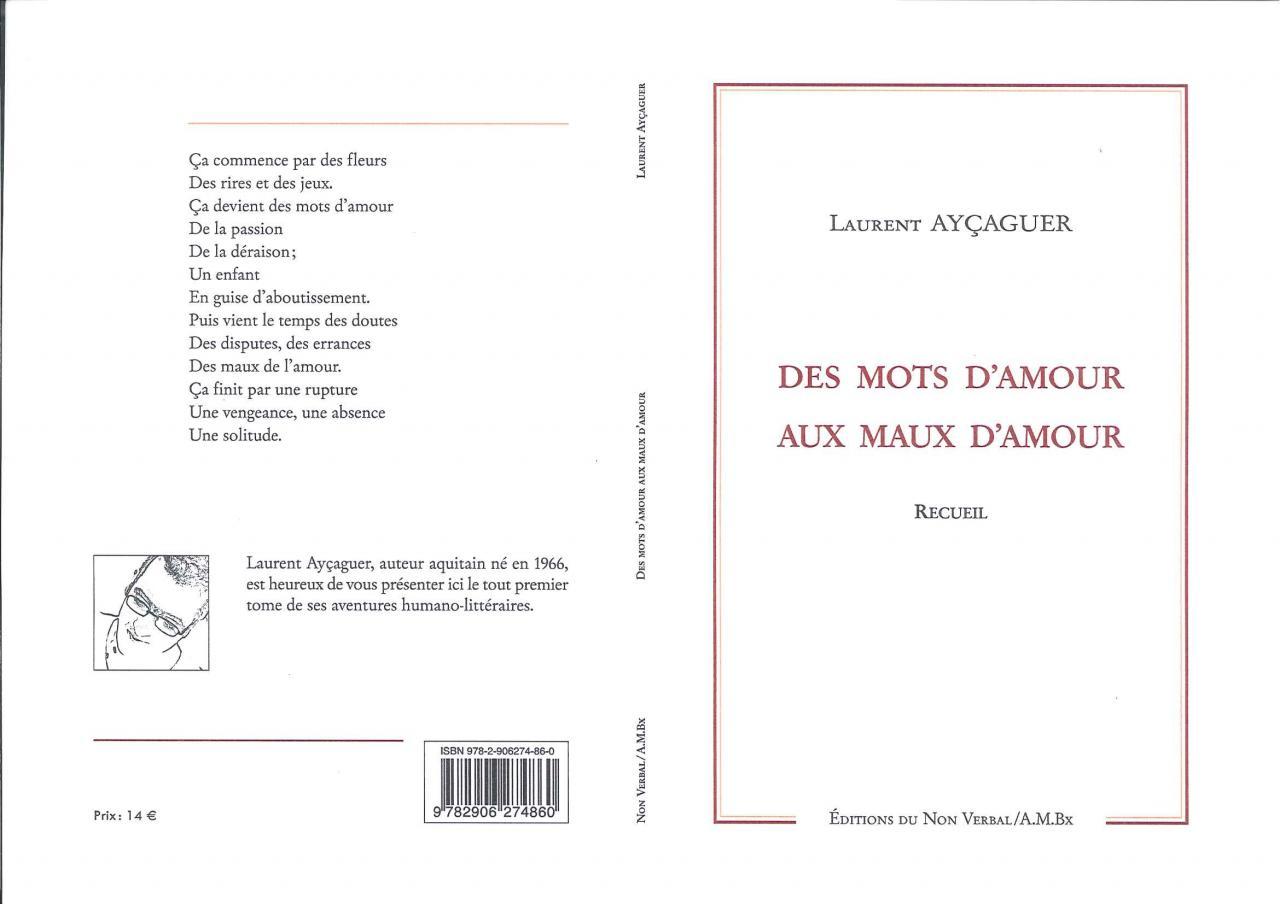 """""""Des Mots D'Amour Aux Maux D'Amour"""" Couverture"""