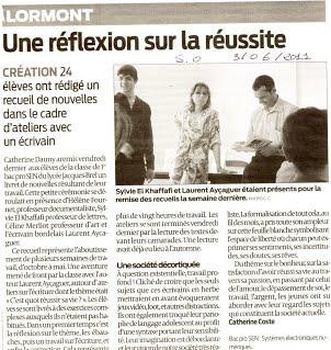 2011 Atelier Lycée Lormont